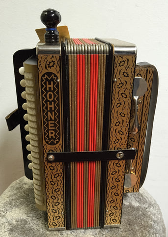 Hohner HA114 Cajun Button Accordion (used)