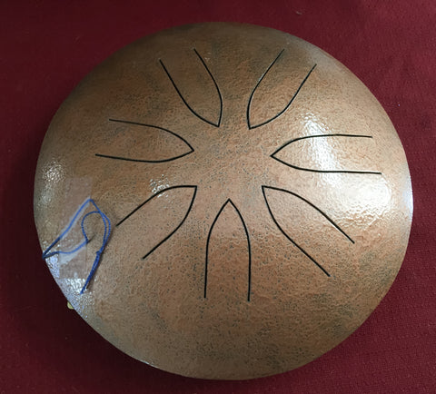 "10"" Copper Ajna Metal Tongue Drum"