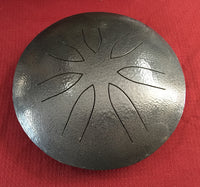 "10"" Dark Gray Ajna Metal Tongue Drum"