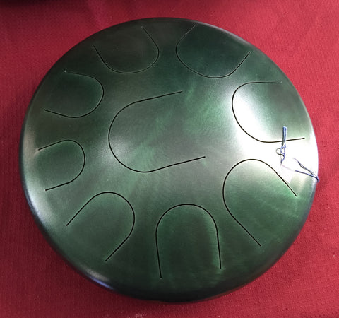 "14"" Jade Green Ajna Metal Tongue Drum"