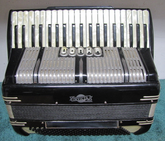 Invicta 120-bass Piano Accordion, SOLD AS-IS (used)