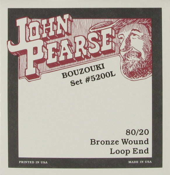 John Pearse 5200L Irish Bouzouki String Set
