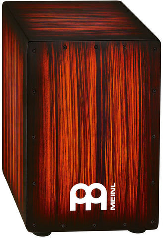 Meinl Headliner String Cajon, Rojo Tiger Stripe