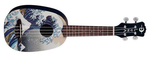 Luna Great Wave Pineapple Soprano Ukulele