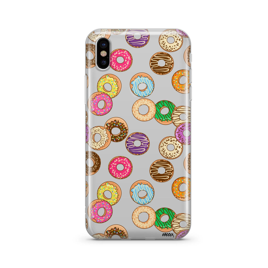Donut Pandemonium Clear Case Cover