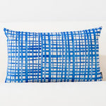 Blue Watercolor Geometric Cushion Cover