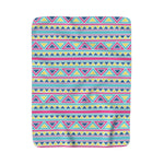 Triangles and Stripes Sherpa Fleece Blanket