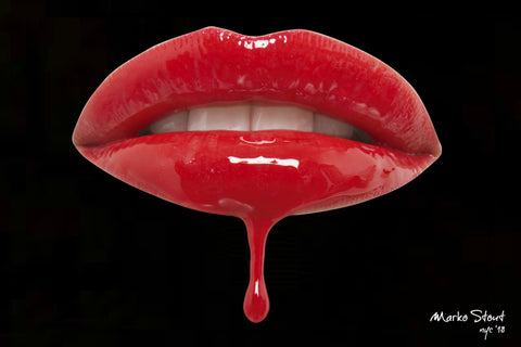 "Urban Metal Print ""Lips in Red"" by Marko Stout (Limited Edition of 5)"