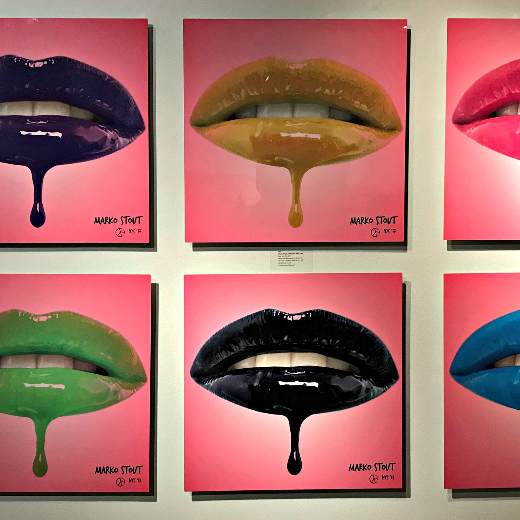 """Lips"" by Marko Stout (Limited Edition in 8 Vibrant Colors)"