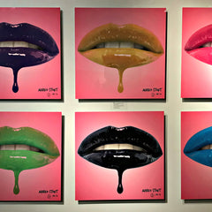 "Urban Metal Prints ""Lips"" by Marko Stout (Limited Edition in 8 Vibrant Colors)"