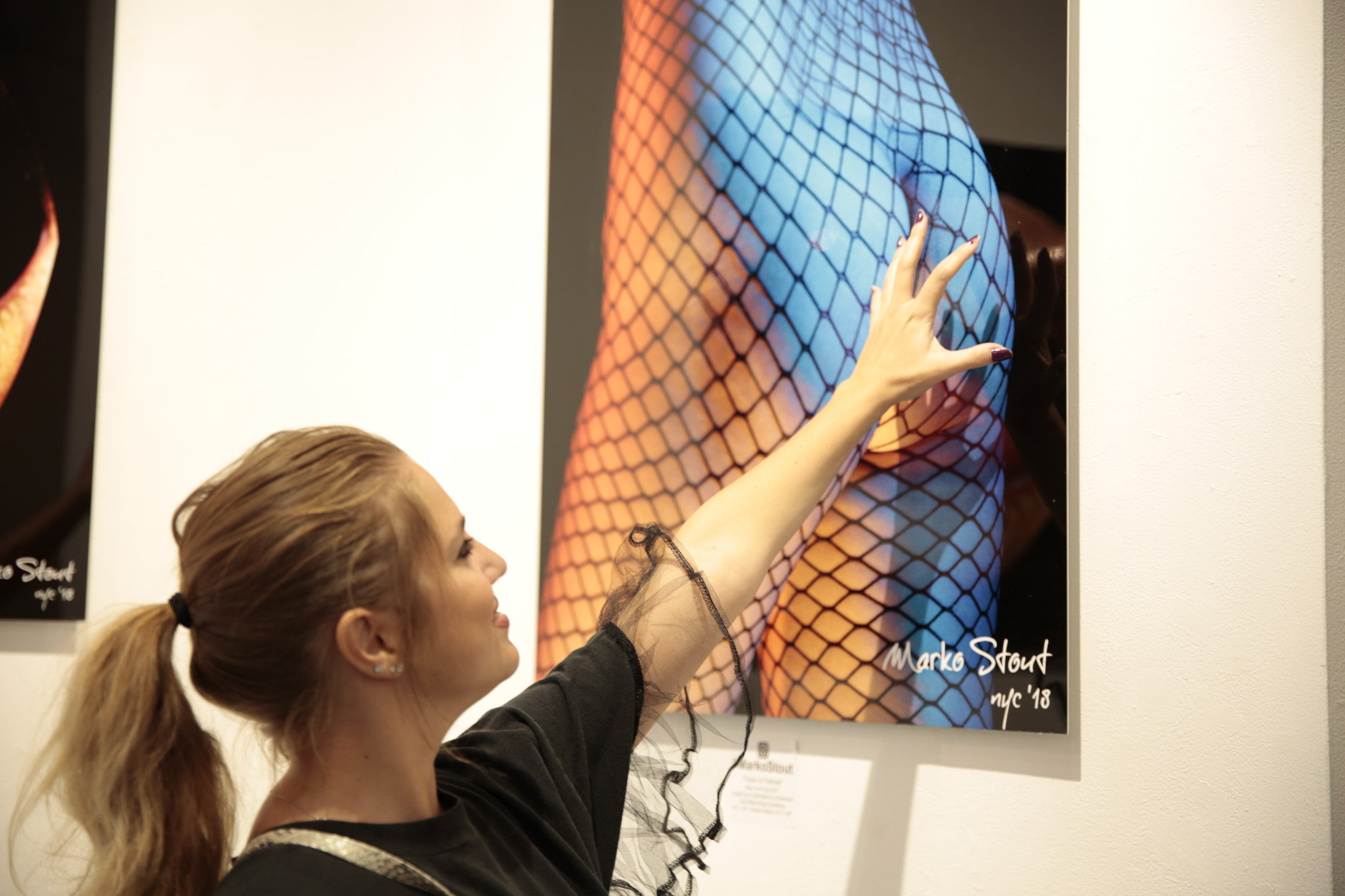 "Urban Metal Print ""Torso in Fishnet No. 01"" by Marko Stout (Limited Edition of 5)"