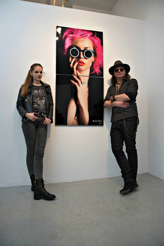 "Urban Metal Print ""Sensual Daydream"" in 2 Panels by Marko Stout (Limited Edition of 5)"