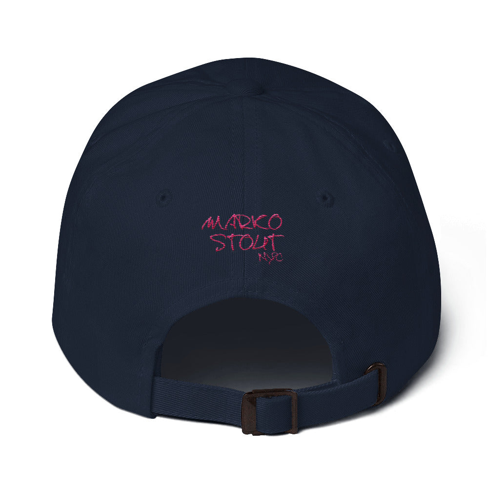 Marko Stout SoHo Cap (Marko Stout NYC with Pink Lettering)