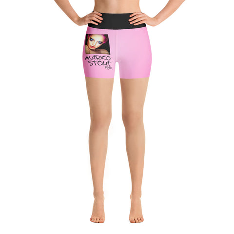 Hot Pink Yoga Shorts (Erotic Nightmares)