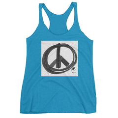 "☮  ""Peace Sign in Black Marker"" Tank"