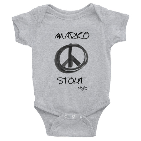 Infant Bodysuit (Peace Sign in Black Marker)
