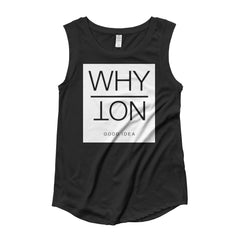 Ladies' Cap Sleeve T-Shirt (Why Not)