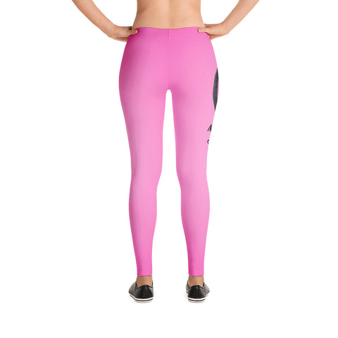 Hot Pink Leggings (Black Marker Peace Sign)