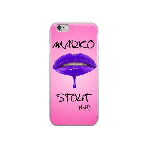 iPhone Case (Lips in Purple)