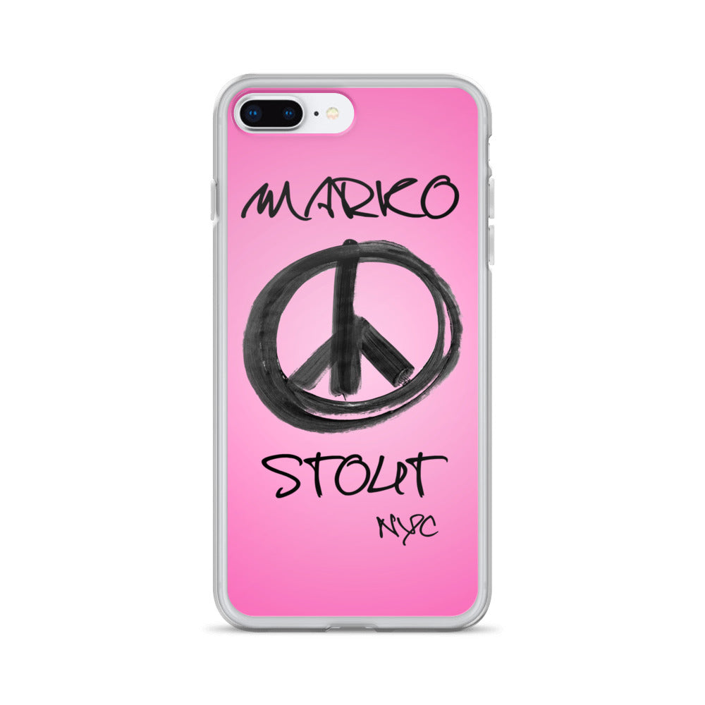 iPhone Case (Peace Sign in Black Marker)