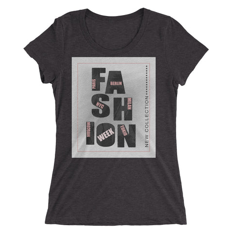 """Fashion Week"" Short Sleeve Crew Neck"