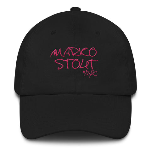 Marko Stout SoHo Cap (Marko Stout NYC in Pink Lettering)