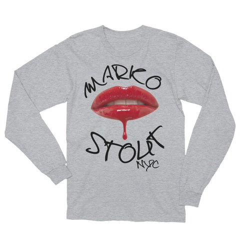 Cool Long Sleeve SoHo T-Shirt (Lips in Red)