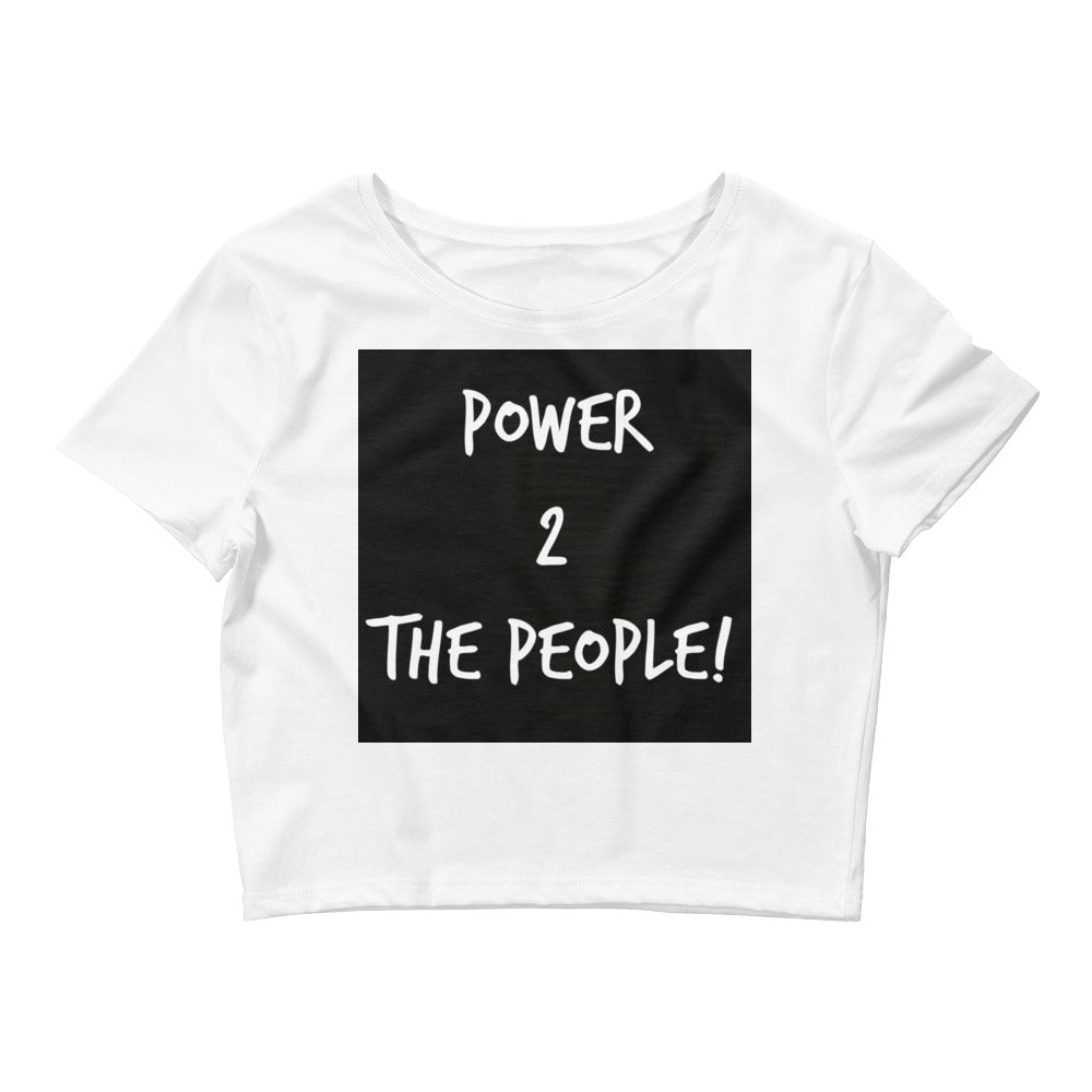 Women's Downtown Crop Tee (Power 2 The People)