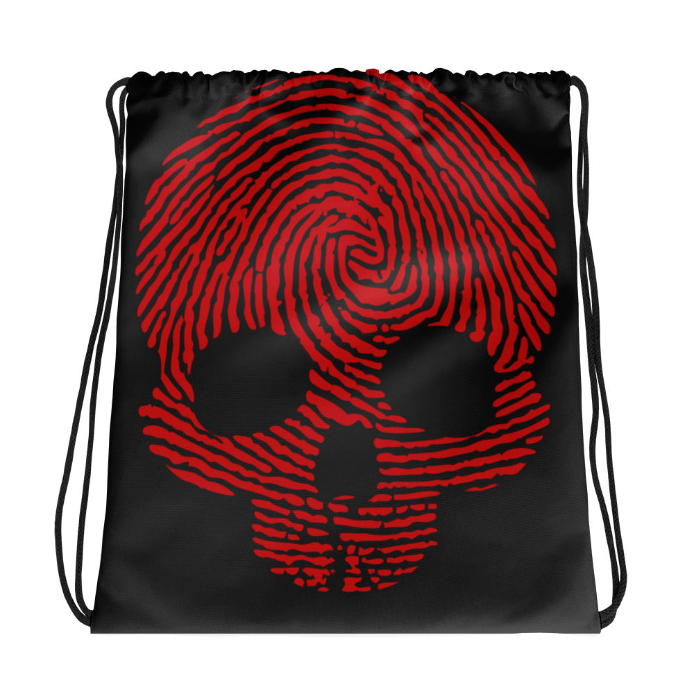 """Fingerprint Skull in Red"" City Bag"
