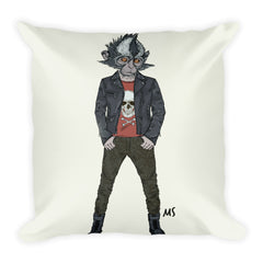 Urban Tribe Square Pillow (Chelsea Monkey)