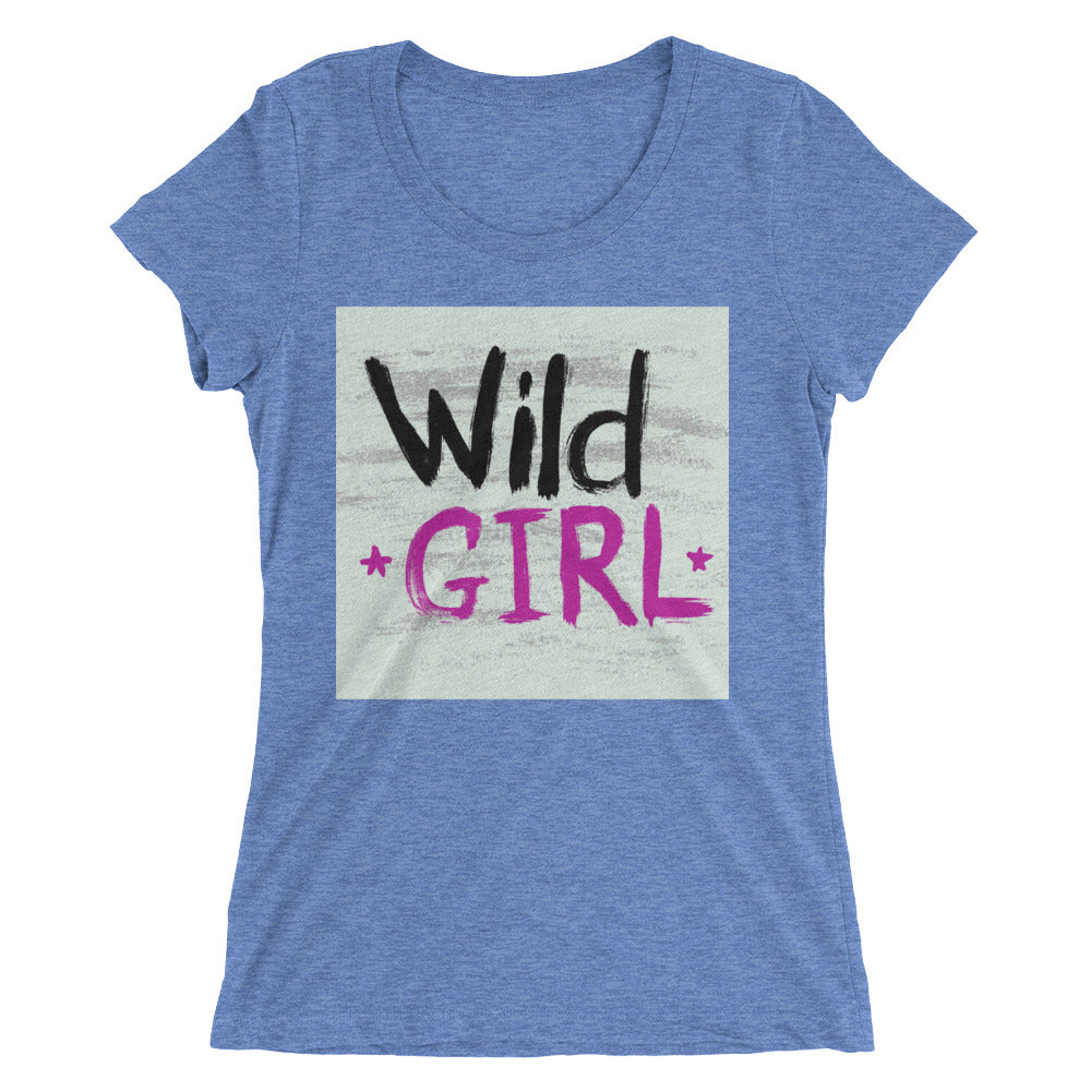 """Wild Girl"" Short Sleeve Crew Neck"