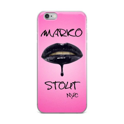 iPhone Case (Lips in Black)