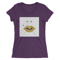 """Gold Lips"" Short Sleeve Crew Neck"