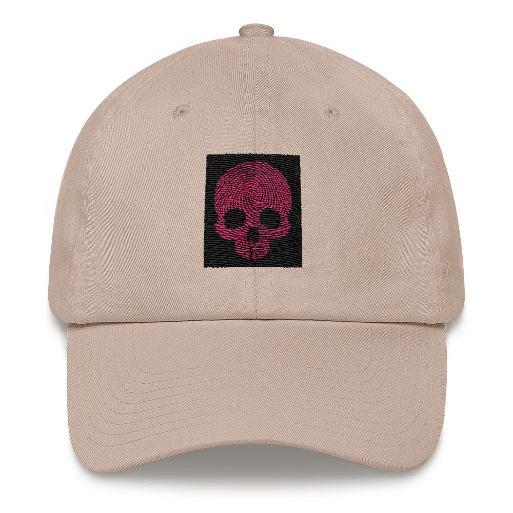 """Fingerprint Skull in Red"" SoHo Cap"