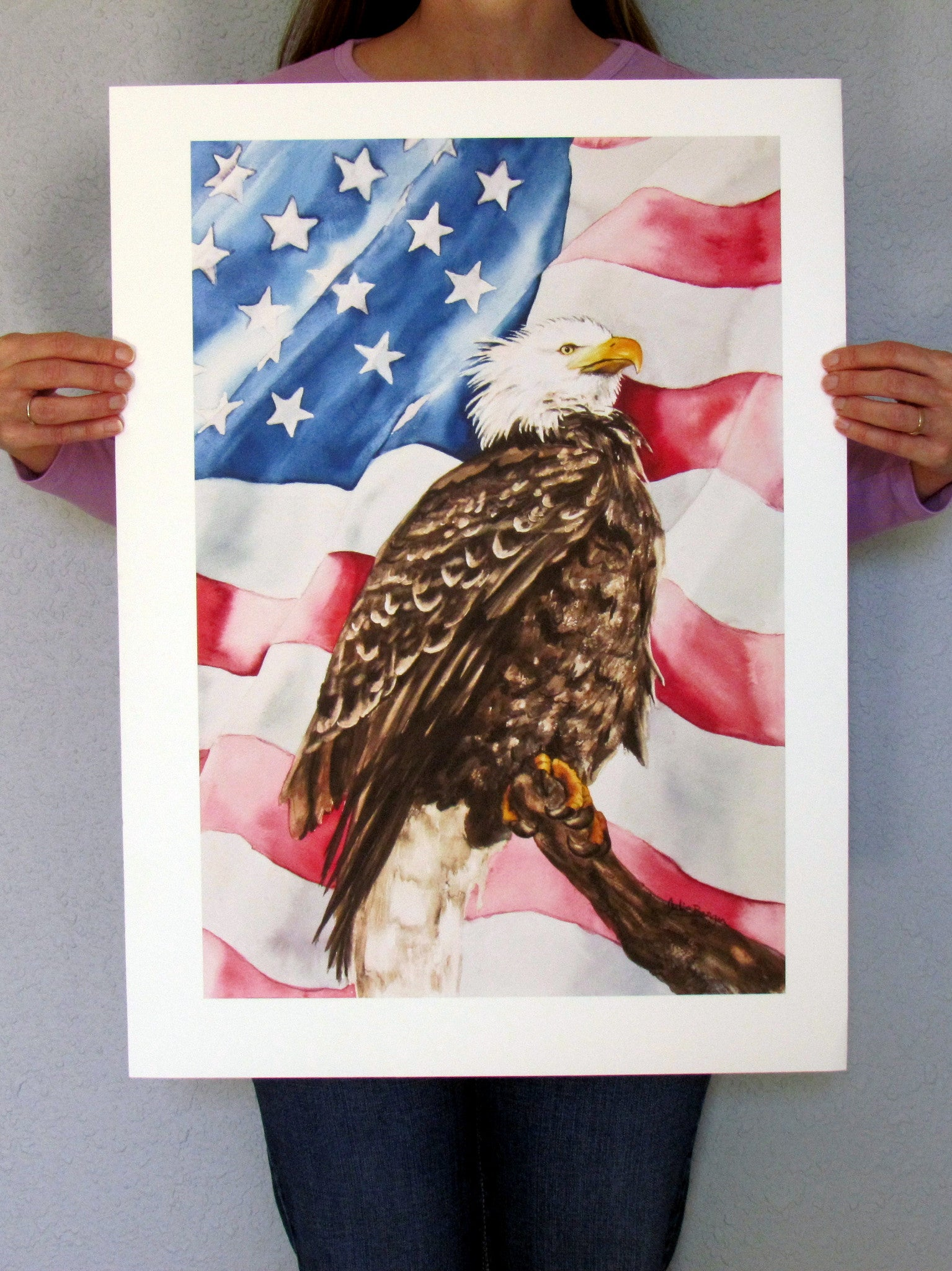"Home Of The Brave 15""x22"" print"