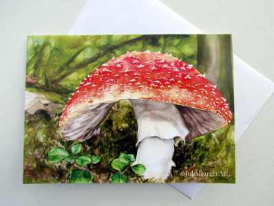 Amanita Greeting Card