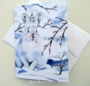 Snowshoe Rabbit Greeting Card