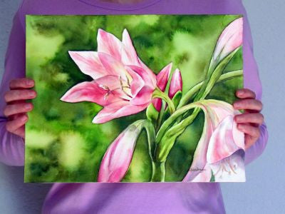 Watercolor Lilies