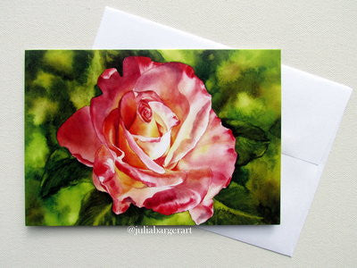 Variegated Rose Greeting Card