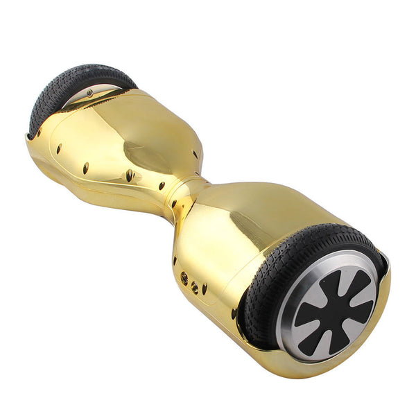 "6.5"" HoverWheelz Classic Self-Balancing Electric Scooter Hoverboard Gold Chrome"