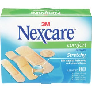 3M Nexcare Comfort Strips Bandage (Box of 80)