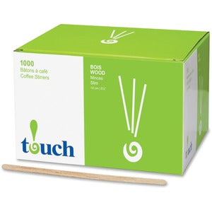 touch Stone Straw Wooden Coffee Stir Sticks (Box of 1000)