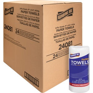 Genuine Joe 2-ply Household Roll Paper Towels (Carton of 24 Rolls)