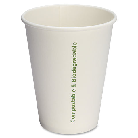 Genuine Joe Compostable Paper Hot Cups ( Pack of 50 )