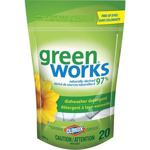 Green Works Dishwasher Detergent (Pack of 20)