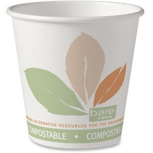Solo 10oz Pla/Paper Hot Drink Cup (Compostable & Renewable) (Pack of 50)