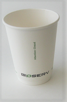 12oz Double Wall AG Bioserv Hot Cup (Case of 500)