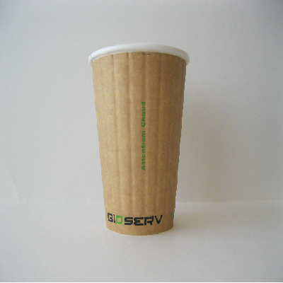 10oz Double Wall AG Bioserv Hot Cup 500 per Case