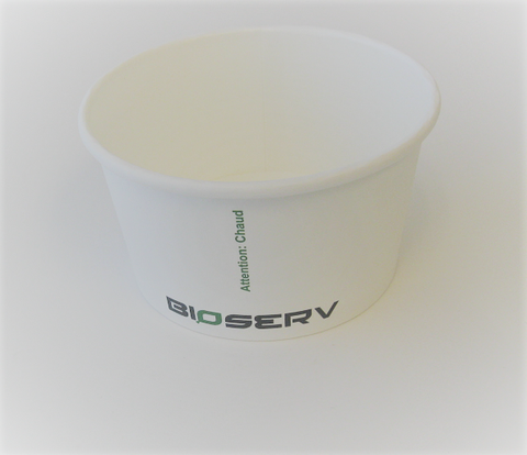 12 oz White Bioserv Soup Cups (Case of 500)