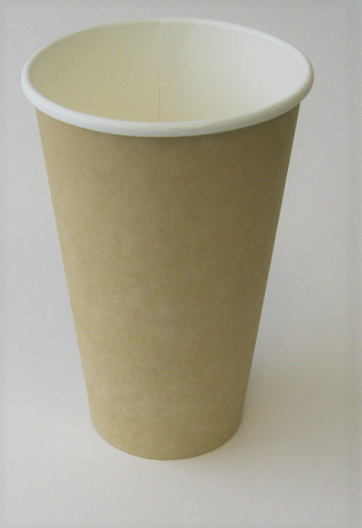 16oz Hot Cup Kraft Plain Single Wall (Case of 1000)